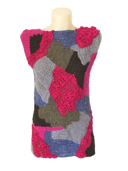 Hand crochet vest Vivian Chan Shaw