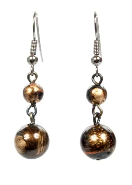 earrings bronze and gold flecks